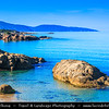 Europe - France - Corsica Island - Island's West Coast on shores of Mediterranean Sea - Road from Ajaccio to Calvi
