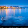Europe - France - Corsica Island - Corse-du-Sud - West Coast on Mediterranean Sea - Ajaccio Bay - Golfe d'Ajaccio - Ajaccio - Aiacciu - Island's Capital famous as the birthplace of Napoleon - Dusk - Twilight - Blue Hour