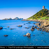 Europe - France - Corsica Island - West Coast - Ajaccio Bay North Coast - Golfe d'Ajaccio - Sanguinary Islands - Iles Sanguinaires - Isuli Sanguinari - Several beautiful islands in French Mediterranean coast
