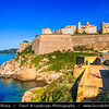 Europe - France - Corsica Island - Corse - Haute-Corse - Corsican North Coast on shores of Mediterranean Sea - Calvi - Historical town with medieval citadel boasting charming mix of natural beauty & rich historical heritage