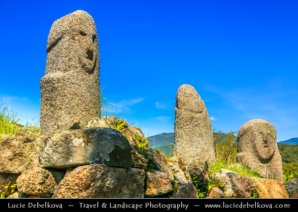 Europe - France - Corsica Island - Corse - Corse-du-Sud - Corsican South-West Coast on shores of Mediterranean Sea - Filitosa - Prehistoric site & Megaliths Area