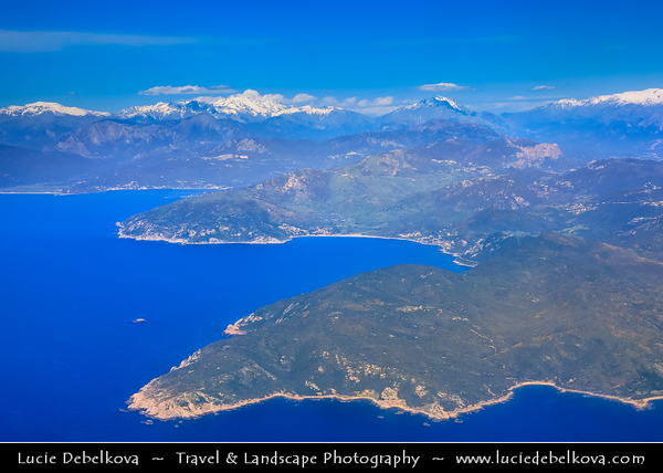 Europe - France - Corsica Island - Corse - Aerial view of the island from the plane