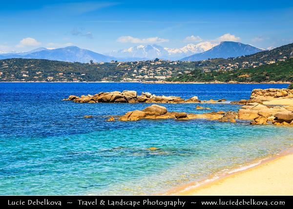 Europe - France - Corsica Island - Corse - Corse-du-Sud - Corsican West Coast on shores of Mediterranean Sea - Ajaccio Bay - Golfe d'Ajaccio