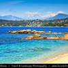 Europe - France - Corsica Island - Corse - Corse-du-Sud - Corsican West Coast on shores of Mediterranean Sea - Ajaccio Bay - Golfe d'Ajaccio
