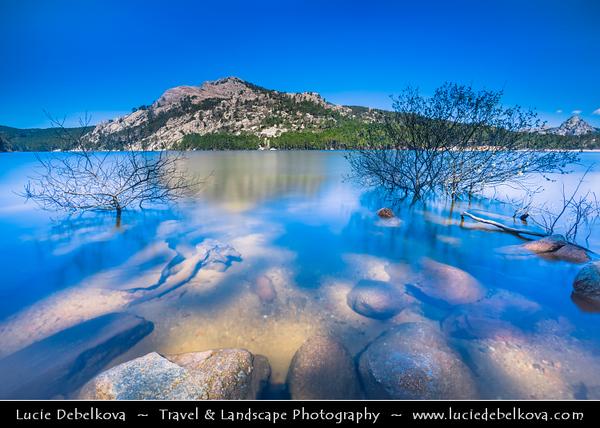 Europe - France - Corsica Island - Corse - Corse-du-Sud - Zonza & its mountainous area - Lac de l'Ospédale - Ospedale Lake