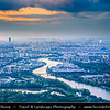 Europe - France - Paris - Capital City on Seine river - Aerial view