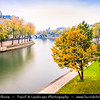 Europe - France - Paris - Capital City on Seine river - Ile Saint-Louis - Île St-Louis - One of two natural islands in Seine river connected to rest of Paris by four bridges to both banks of river