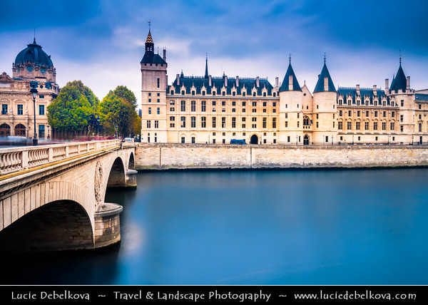 Europe - France - Paris - Capital City on Seine river - Ile de la Cite - One of two natural islands in Seine river