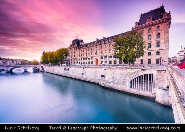 Europe - France - Paris - Capital City on Seine river - Area of Ile de la Cité - One of two remaining natural islands