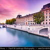 Europe - France - Paris - Capital City on Seine river - Area of Ile de la Cité - One of two remaining natural islands