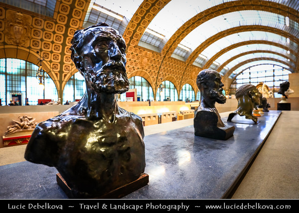 Europe - France - Paris - Capital City on Seine river - Musee d'Orsay - D'Orsay Art Gallery and Museum - Old Orleans Railway Station