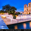 Europe - France - Paris - Capital City on Seine river -  Notre Dame de Paris - Our Lady of Paris - Notre Dame Cathedral - Iconic Gothic Catholic Cathedral on eastern half of the Île de la Cité - Famous Parisienne Landmark