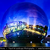 Europe - France - Paris - Capital City on Seine river - Villette - Parc de la Villette - 3rd largest Parisienne park - Cité des Sciences et de l'Industrie - City of Science and Industry - Europe's largest science museum - Géode - Omnimax Domed Theatre -