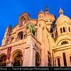 Europe - France - Paris - Capital City on Seine river - Montmartre - Historic Hill District in north of Paris - Sacré-Cœur Basilica - Basilica of the Sacré Cœur - Basilica of the Sacred Heart of Paris - One of Parisienne famous landmarks