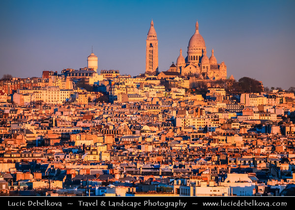 Europe - France - Paris - Capital City on Seine river - View fro