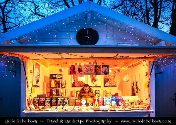 Europe - France - Paris - Capital City on Seine river - Christmas Markets on Avenue des Champs-Élysées with many various stand offering delicious food, many kind of Christmas presents