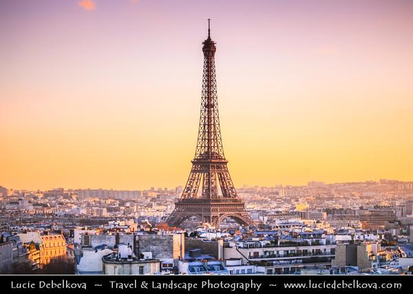 Europe - France - Paris - Capital City on Seine river - La Tour