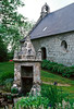 There is an obvious layerd syncretism to the religions in Brittany. This holy well certainly preceded the church and was, no doubt, the reason the church was located here.<br /> <br /> The belief in the power of holy water was so strong that, in 658, the Council at Nantes condemned the worship of fountains.
