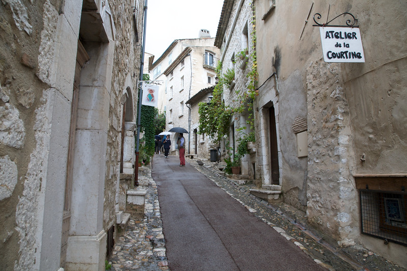 Narrow streets of St Paul de Vence.