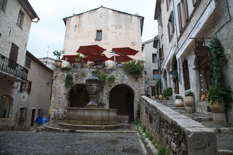 The fountain at the heart of St Paul de Vence is one of the most famous in France.