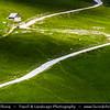 Europe - France - Alpes de Haute-Provence - Col du Galibier Area - Mountain pass at elevation of 2,645 m (8,678 ft) & surrounding landscape of French Dauphiné Alps - Highest point of Tour de France cycling race