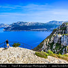 Europe - France - Provence-Alpes-Côte d'Azur Region - Parc National des Calanques - Calanques National Park - La Route des Crêtes - From La Ciotat to Cassis - Spectacular scenery with some of the tallest seaside cliffs in France along coast of Mediterranean Sea