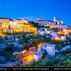Europe - France - Provence-Alpes-Côte d'Azur Region - Vaucluse - Gordes - Very beautiful old village perched on the southern edge of the high Plateau de Vaucluse - Stone buildings built in tight against the base of the cliffs and those perched on the rocks above, including the 12th-century castle