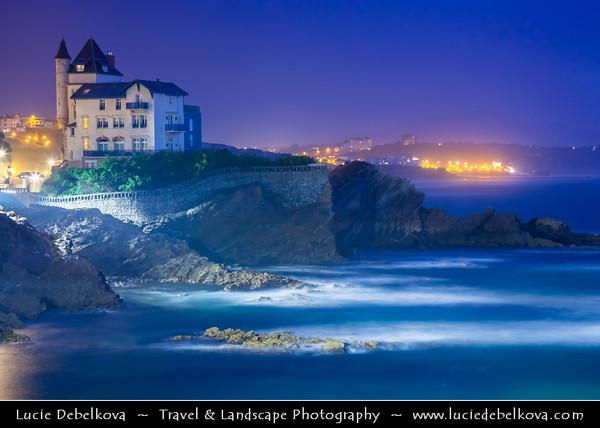Europe - France - Nouvelle-Aquitaine Region - Pyrénées-Atlantiques- Cote Basque - Bay of Biscay - Biarritz - Luxurious seaside town on Atlantic coast