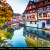 Europe - France - Alsace - Strasbourg - Strossburi - Straßburg - Historic city centre - UNESCO World Heritage Site - Strasbourg Petite France - Popular corner of Grand Île - Main Island - Traditional timber-framed buildings along River Ill