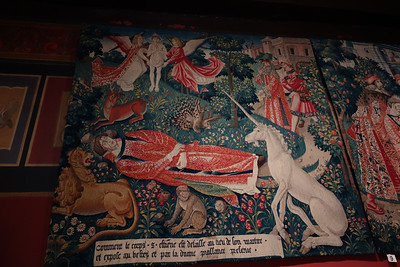 Unicorn Tapistry with Monkey and Porcupine, Musee National du Moyen Age, Paris