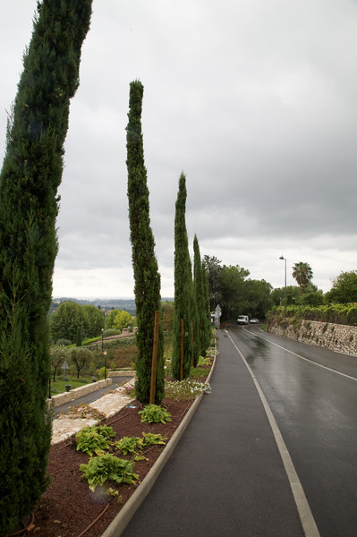 Road leading up to the village of St Paul de Vence