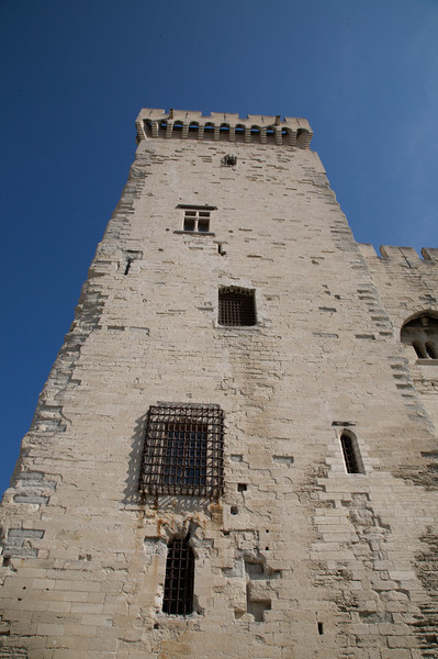 One of the towers of the Palace of the Popes, Avignon.