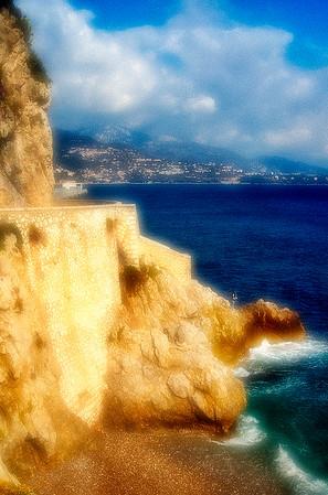 Cliffside View #1 - Monte Carlo, Monaco