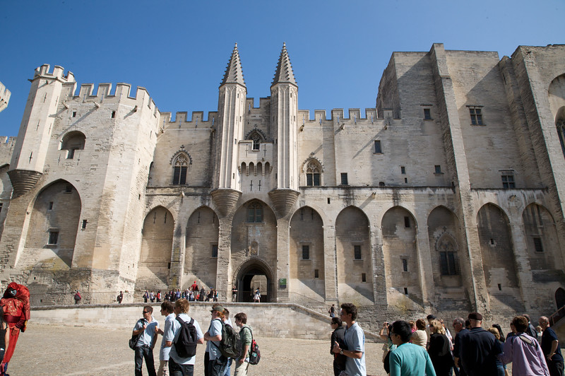 'Palais des Papes' (Palace of the Popes) - Avignon, France. The construction of this building began in 1309, when Pope Clement V left Rome and chose Avignon as the capital of Christianity. For more than a century the many popes lived in Avignon.