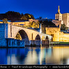 Europe - France - Provence-Alpes-Côte d'Azur Region - Vaucluse - Avignon - Historical city on banks of Rhône River - City of Popes - UNESCO World Heritage Site - Pont Saint-Bénézet - Pont d'Avignon - Famous medieval bridge which is only half finished