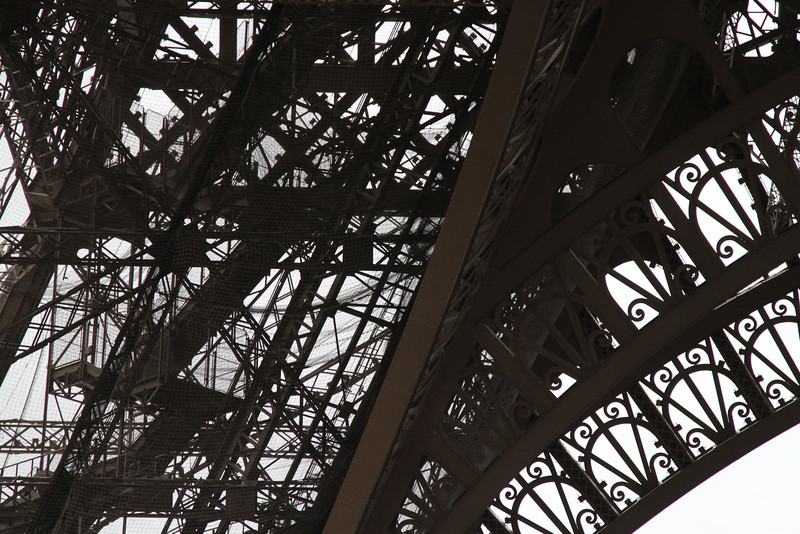 Stairs from the base of the Eiffel Tower, Paris