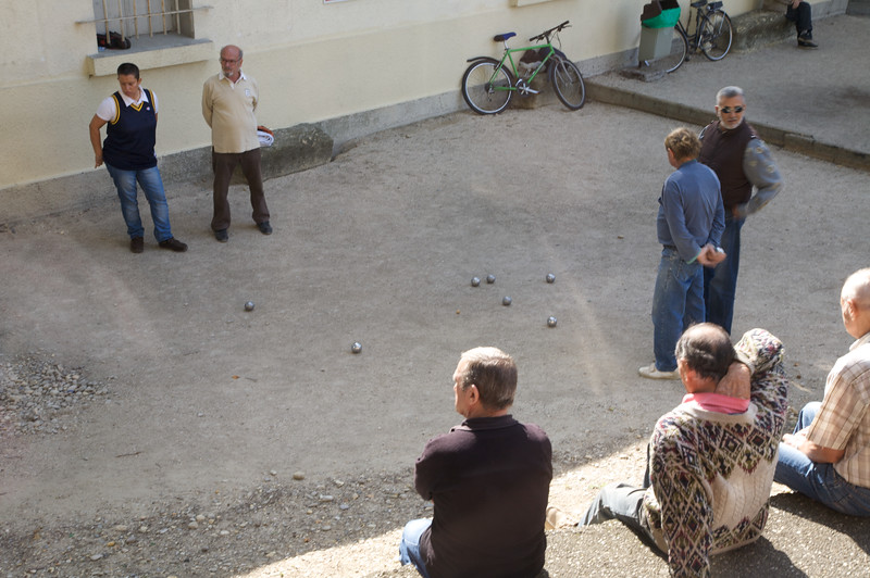 Old boys playing Bocce