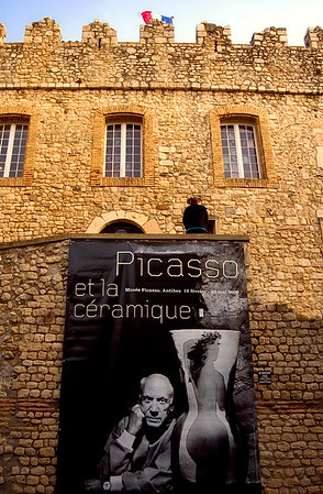 Entrance to Pablo Picasso Museum - Antibes, France