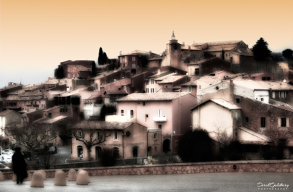 View of Medieval Town of Roussillon - Provence, France