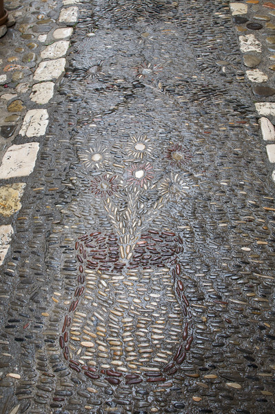 Decorated cobbled stone streets