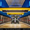 Europe - Germany - Deutschland - Bavaria - Bayern - Munich - München - U-Bahn station - Subway Station Olympia-Einkaufszentrum - Terminus of the U1 and U3 lines of the Munich U-Bahn system