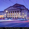Europe - Germany - Deutschland - Bavaria - Bayern - Munich - München - National Theatre Munich - Nationaltheater München - Opera house in Max-Joseph-Platz - Bavarian State Opera at Dusk - Twilight - Blue Hour - Night