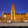 Europe - Germany – Deutschland - Bavaria - Bayern - Munich - München - Historical Center of the City - Marienplatz - Marien square with the Neues Rathaus - New City Hall
