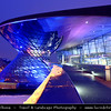 Europe - Germany – Deutschland - Bavaria - Bayern - Munich - München - BMW World - BMW Welt - Very spectacular modern architecture BMW show room