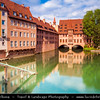 Europe - Germany - Deutschland - Bavaria - Bayern - Franconia - Nuremberg - Nürnberg - Norimberg - Altstadt - Old Town - Historic old town with the Imperial Castle in the background