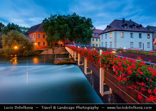 Europe - Germany - Deutschland - Bavaria - Bayern - Upper Franconia - Bamberg - Historic city center on the river Regnitz - UNESCO World Heritage Site - Old town famous for its beautiful Old city hall - Altes Rathaus