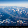 Europe - Germany - Deutschland - Bavaria - Bayern - Bavarian Alps - Bayerische Alpen - Aerial View