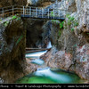 Europe - Germany - Deutschland - Bavaria - Bayern - Berchtesgaden National Park - Almbach Gorge - Almbachklamm - Beautiful deep ravine between cliffs carved from the landscape by the erosive activity of a river
