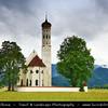Europe - Germany - Deutschland - Bavaria - Bayern - Füssen area - Schwangau - St Coloman Kirche Church