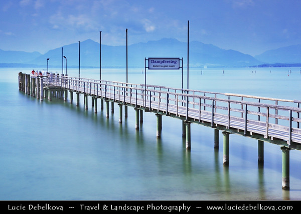Europe - Germany - Deutschland - Bavaria - Bayern - Seebruck am Chiemsee - Chiemsee - Freshwater lake often called the Bavarian Sea